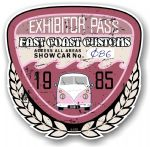 Aged Vintage 1985 Dated Car Show Exhibitor Pass Design Vinyl Car sticker decal  89x87mm